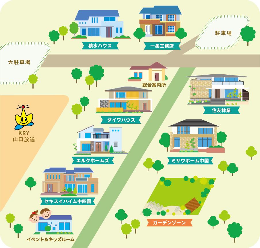 KRYハウジングサイト イラストマップ